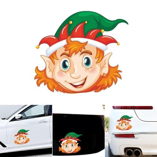 Симпатичные Наклейки на Автомобиль Творческий Оконное Стекло Наклейка Рождественские Украшения Наклейки