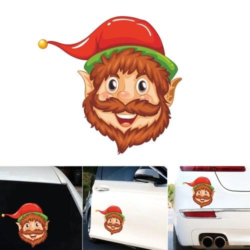 Etiquetas engomadas lindas del coche Etiqueta de cristal de la ventana creativa Pegatinas de decoración de Navidad