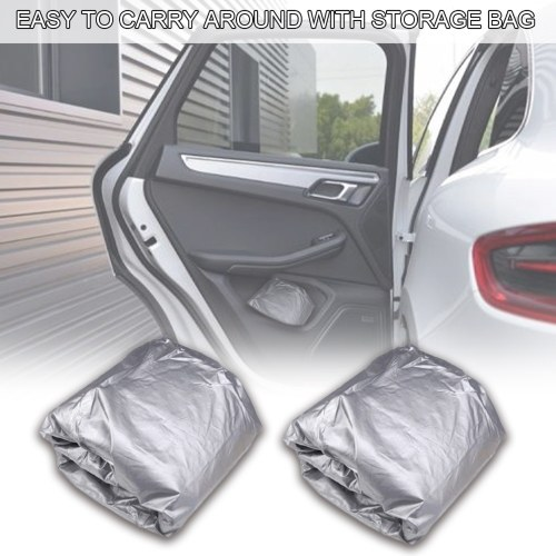 Sedan Car Cover Waterproof All Weather Outdoor Car Cover UV Protection Windproof Full Car Cover Universal(4.4*1.8*1.6M)