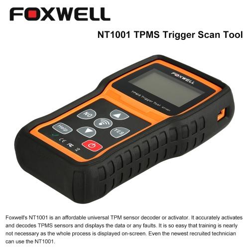 FOXWELL NT1001 OBD Car Diagnostic Scan Tool TPMS Tire Pressure Monitoring Trigger Tool TPM Sensor Decoder
