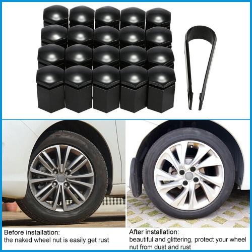 Satz der 20ST 17mm Auto Wheel Nut Bolt Covers Kunststoff Kappen für Vauxhall