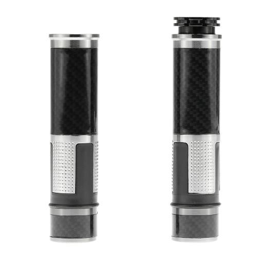 Pair of Universal Motorcycle Carbon Fiber Hand Grips 22mm Motorcycle Handlebars