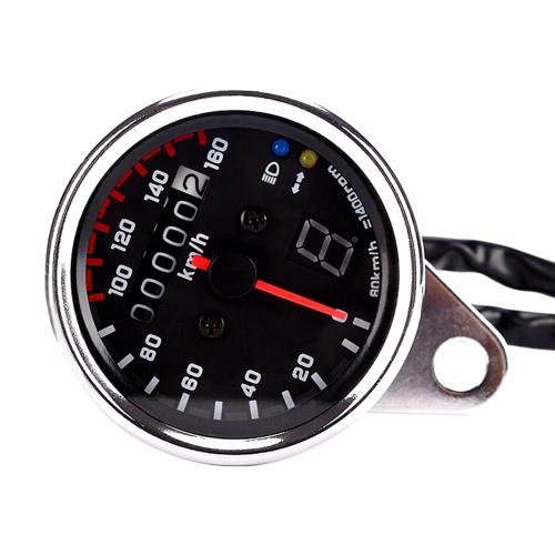 Indicateur universel de vitesse 12V Tachymètre avec rétroéclairage LED