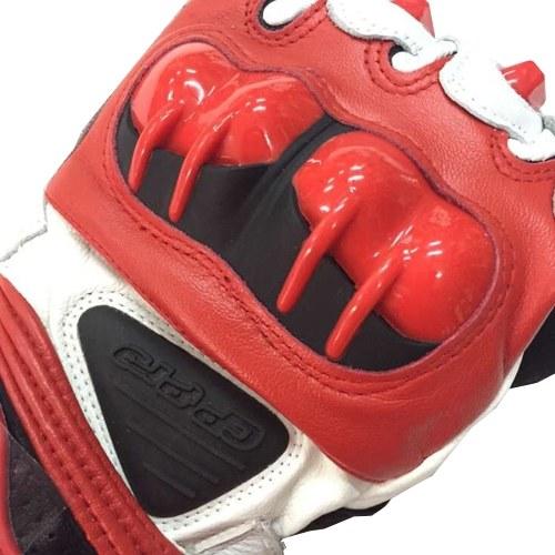 Гоночные перчатки из искусственной кожи