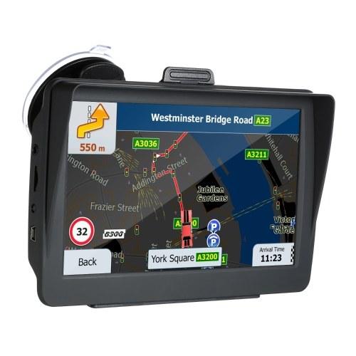 Sistema de navegación GPS HD de 7 pulgadas Guía de voz 8G y alertas de límite de velocidad direccional con mapas 3D de Europa