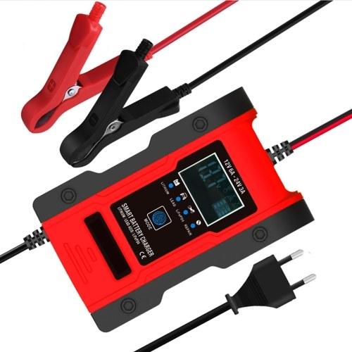 Зарядное устройство для автомобильного аккумулятора 12V 7A Зарядное устройство для свинцово-кислотных аккумуляторовЖК-дисплей Smart Battery Maintainer 7-ступенчатые зарядные устройства