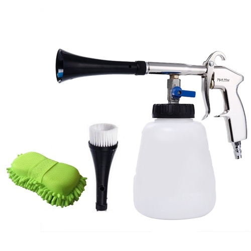 Wash Sprayer and Bottle with Brush Sponge High Pressure Car Interior Exterior Cleaning Tools