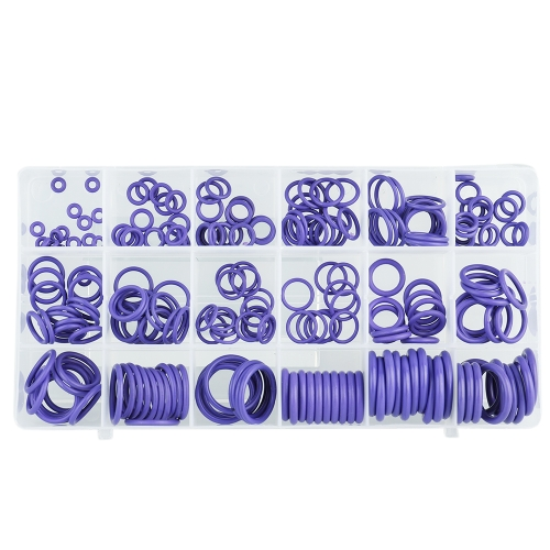 225PCS Car Air Conditioning O-Type Repair Box Seal Rubber Washer Assortment Set NBR O-Shape Seal Ring