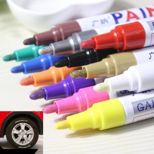 Портативный цветной автомобильный автошина Шины для протектора резины Металлические перманентные маркеры краски Граффити Масляные царапины Ремонт маркерной ручки фото