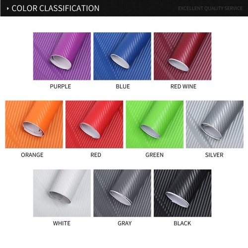Waterproof Car Stickers 3D Car Carbon Fiber Vinyl Film Sheet Wrap Roll Auto Car DIY Decor Sticker Paper Car Styling