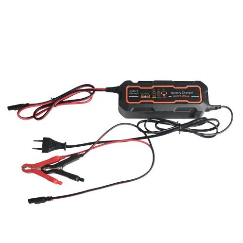 BYGD 6V/12V 3A Smart Car Battery Charger
