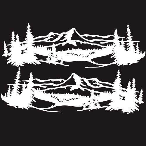 2 piezas vinilo calcomanía de montaña impermeable emblema del coche GraphicSkirt Creative Stripe reposición del cuerpo pegado del cuerpo del coche pegatina para el maletero trasero (9 '' pulgadas)