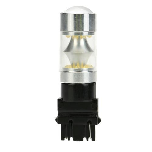 Sencart 100W 3156 P27W W2.5X16D 20 * LED 12V-24V voiture inversant lampe frein Stop clignotant feu arrière lumière ampoule 2200LM 6500 K