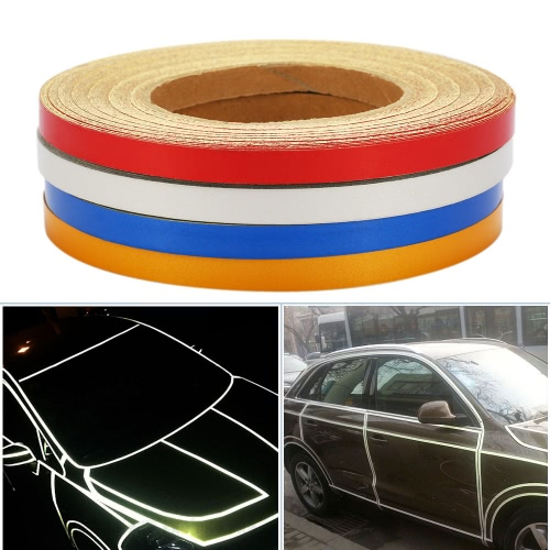 Car DIY Reflective Tape Strip Decoration Adhesive Sticker for Motorcycle Bike Bicycle Truck