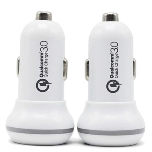 Mini QC 3.0 Dual USB Car Charge Uniwersalna ładowarka samochodowa o dużej szybkości