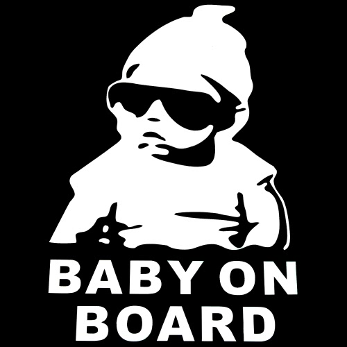 Mignon Lovely Baby Cool Hat Lunettes de soleil à bord Pattern Car Sticker Fenêtre Reflective Sheeting 3D Car Pare-brise Décalque Dessin Engrais Extérieur Styling Automobile Autocollant Décoré Housse Accessoires pour camions portables