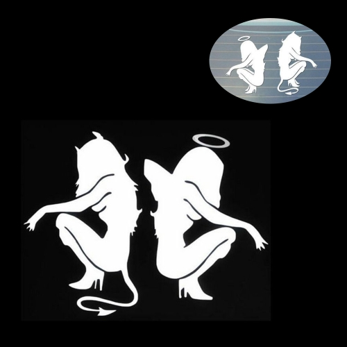Angels and Demons Car Body Styling Sticker Removable Waterproof
