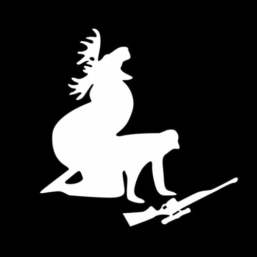 Moose Hunting Car Body Styling Sticker Removable Waterproof