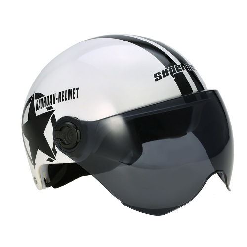 Motorcycle Helmet Half Open Face Adjustable Size Protection Gear Head Helmets Unisex Five-pointed Star