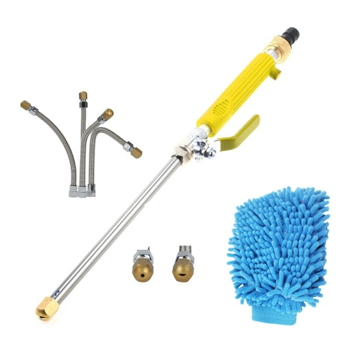Strumento di lavaggio ad acqua ad alta pressione Spray Strumento di lavaggio ad alta potenza in metallo Sprayer Strumenti di lavaggio auto Giardino Water Jet Washer