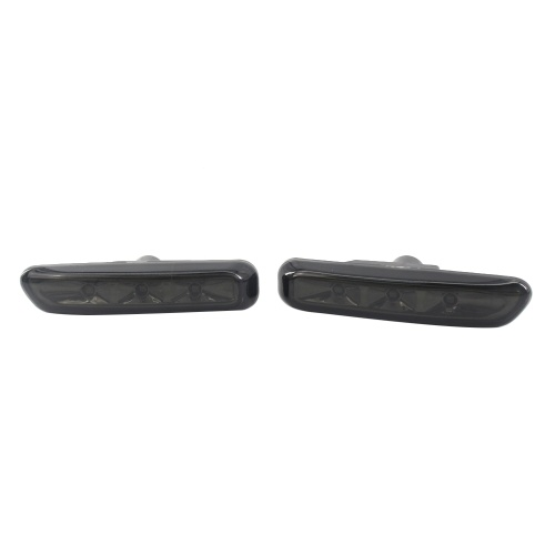 A Pair Full LED Strip Side Marker Light Front Fender Turn Signal Lamp Assembly Replacement Pair Replacement for BMW E46 Gray