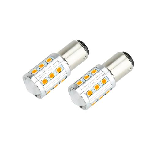 2 X 2835 22-SMD 850LM LED Car Turn Signal Brake Tail Light Lamp Bulb for 1157 Socket Red Amber