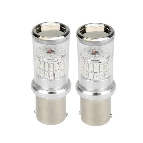 2 x 1156 3014-48SMD ampoule LED voiture arrière frein sauvegarde Turn Signal Light lampe remplacement rouge ambre 570LM