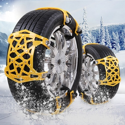 Catene da neve per auto Anti Slip Tire 9 Nails Catene Tire Emergency Winter Driving Fits per Universal Cars Truck