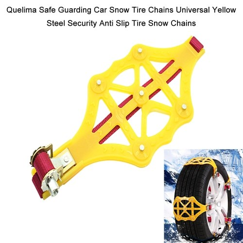 Quelima Safe Guarding Car Snow Tire Chains Universal Black Steel Security Anti Slip Tire Snow Chains