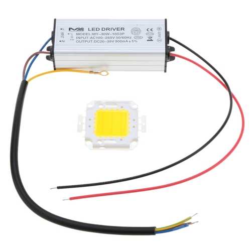 30W AC100-265V DC20-39V Driver & Bulb Power Supply Adapter Transformer Switch For Flood Light Factory Street Lamp LED Light Strips Bulbs IP66 Water Resistant