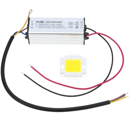 50W AC100-265V DC20-39V Driver & Bulb Power Supply Adapter Transformer Switch For Flood Light Factory Street Lamp LED Light Strips Bulbs IP66 Water Resistant