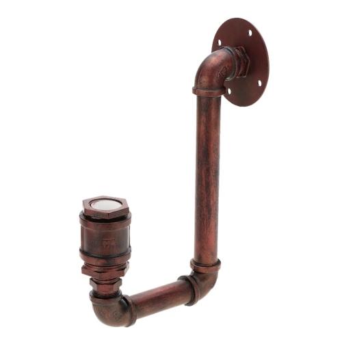 Retro personalidad de la vendimia de bronce del tubo del metal agua en forma de lámpara de pared