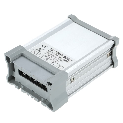 AC110V-250V To DC12V 100W 8.3A LED Driver Power Supply Adapter Transformer Switch for LED Strip