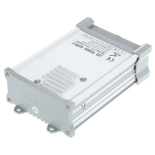 AC170-250V To DC12V 200W 16.6A LED Driver Power Supply Adapter Transformer Switch for LED Strip