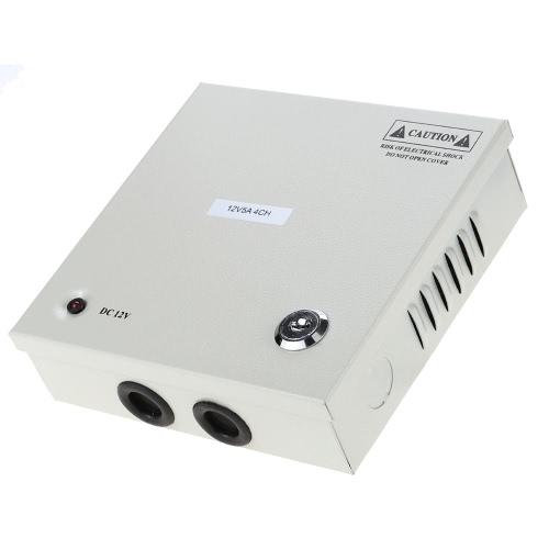 4CH AC100-240V Для DC12V 5A 60W LED Driver Power Supply Box адаптер Трансформатор для CCTV камеры безопасности светодиодные полосы Строка