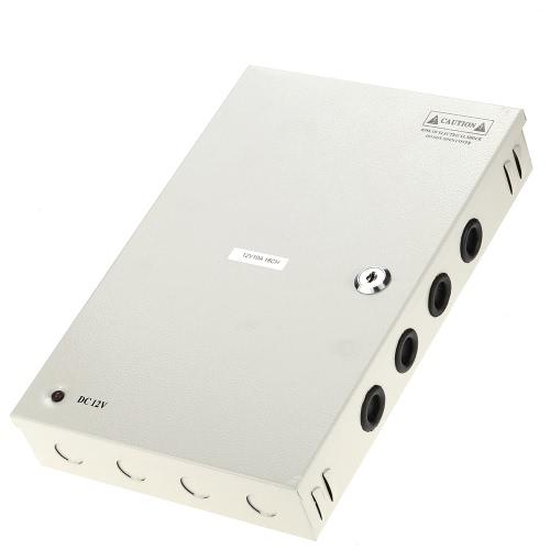 18CH AC110/220V To DC12V 10A 120W LED Driver Power Supply Box Adapter Transformer for CCTV Security Camera LED Strip String Light
