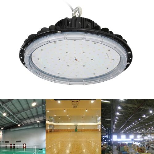 Plafond Tomshine 85-265V 150W 16500LM 154LED UFO High Bay Lumière Mining Industrial Light Spot Market Atelier usine Entrepôt Exhibition Hall Stadium