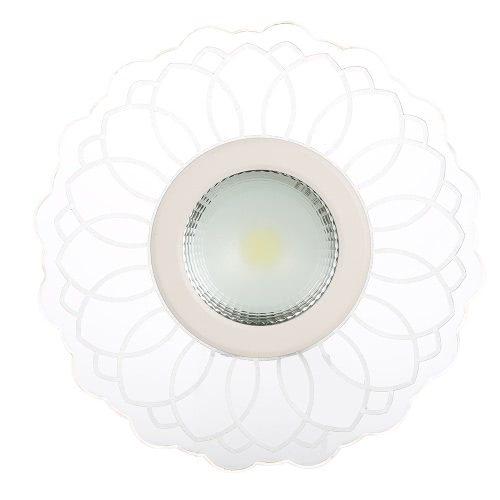 8W 220V LED Ceiling Light COB SMD2835 640LM Colorful Porch Lamp Energy Class A+ Background Wall Lamp for Corridor Aisle Stair Hallway Balcony Living Room Home Decor White