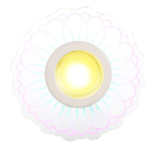 8W 110V Светодиодный потолочный светильник COB SMD2835 640LM Красочные Крыльцо лампа Класс энергопотребления A + Фоновая Бра для Коридор Aisle лестничные Прихожая Балкон Гостиная Home Decor теплый белый