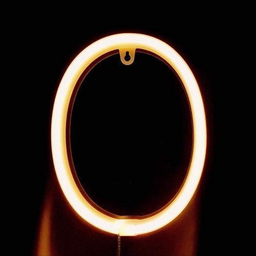 Светодиод 0-9 Форма Рисунок Лампа Теплый белый