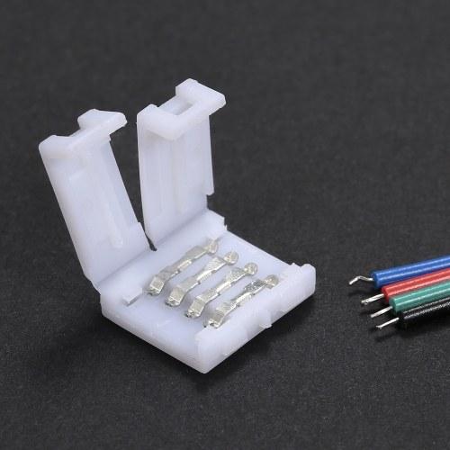 10 Pack White 4 штырька RGB светодиодный разъем для полос быстрого разветвления