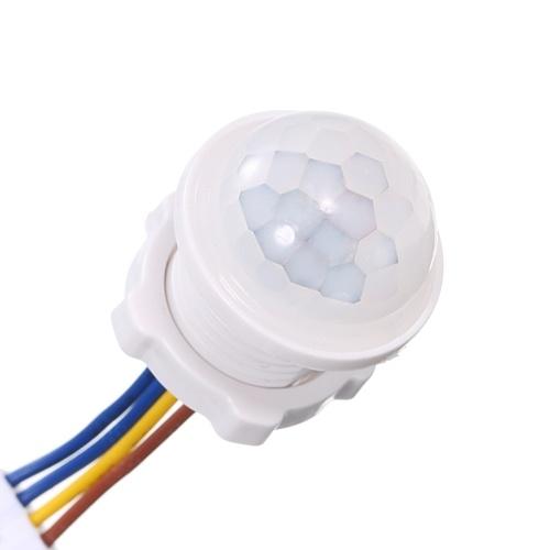 AC100-265V 40W (máx.) Mini sensor de movimiento PIR adoptado Control de luz sensible Tecnología humana infrarroja