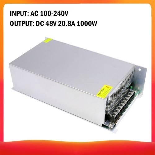 AC 100-240V a DC 48V 20.8A 1000W Transformador de voltaje Conmutación regulada