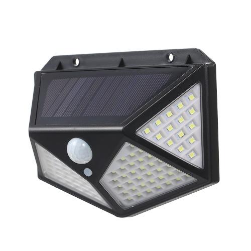 100LEDs Intelligent Solar Water-Resistant High Brightness Outdoor Human Body Sensor Wall Lamp
