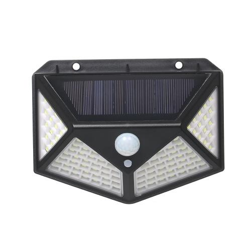 100LEDs Inteligente solar resistente al agua de alto brillo al aire libre cuerpo humano sensor lámpara de pared