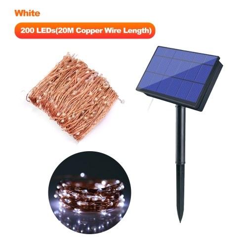 Luces de cadena de energía solar de 20M / 65.6ft