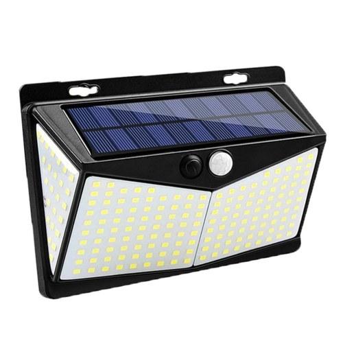 208L-ED Solarlampen-Bewegungssensor 3 Modi IP65 Wasserdichte Außenweitwinkel-Außenbeleuchtung für Hinterhof-Straßenlaternen