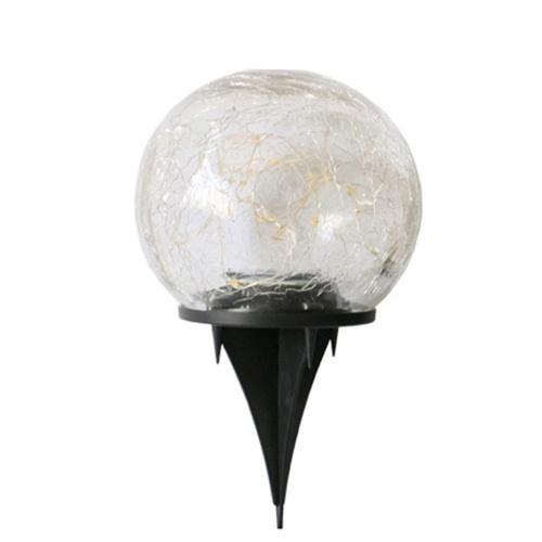 ソーラークラックボールローンランプガーデンパティオ埋め込みライト(20LED 10CM)
