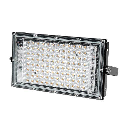 AC180-240V 50W 50LEDs Wall Spotlights with Mounting Bracket Wire Connection IP65 Water-resistant Outdoor Secure LEDs Flood Light for Gate Yard Playground, TOMTOP  - buy with discount