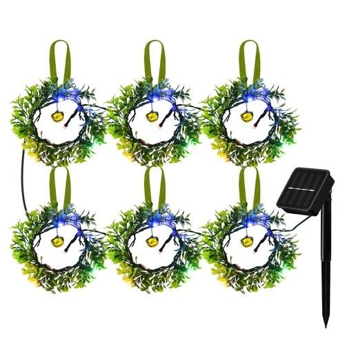 Solar Garland Light Weihnachten dekorative Lichter Garten Landschaft dekorative Lichter 24 LED buntes Licht 8 Beleuchtungsmodi